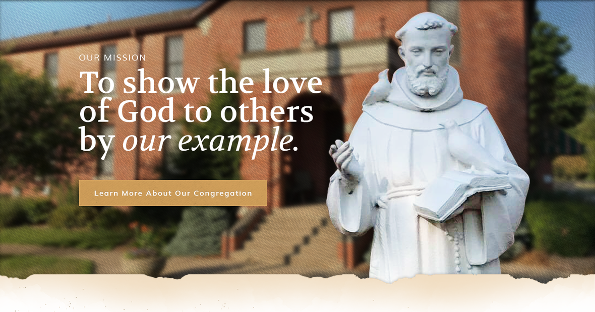 Home page banner for Franciscan Brother in Springfield, Illinois