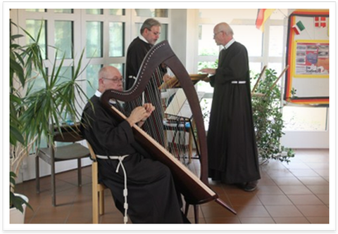 picture of Franciscan brothers playing music
